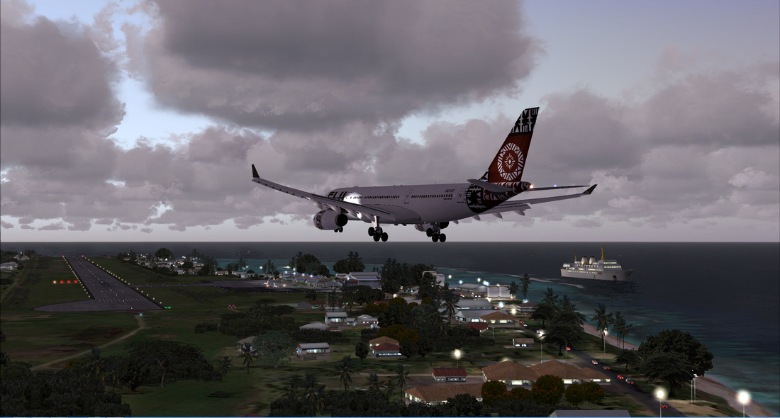 Rarotonga Int - P3Dv4 - Scenes for pilots who deviate from
