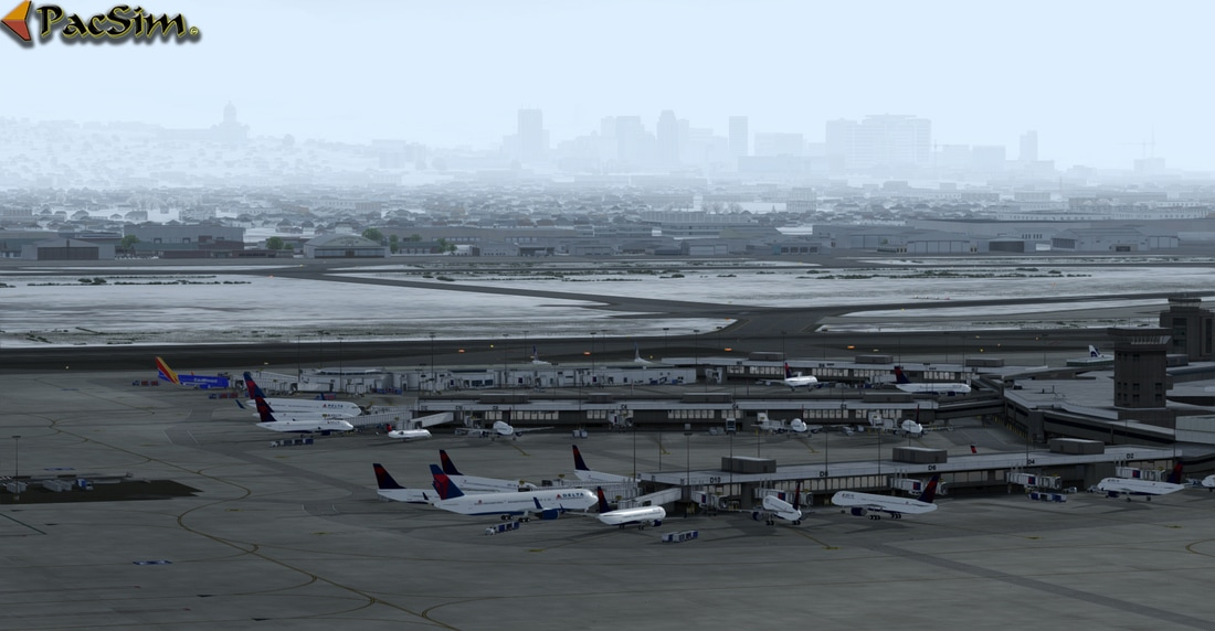 Salt Lake City Int - P3Dv4 - Scenes for pilots who deviate from the