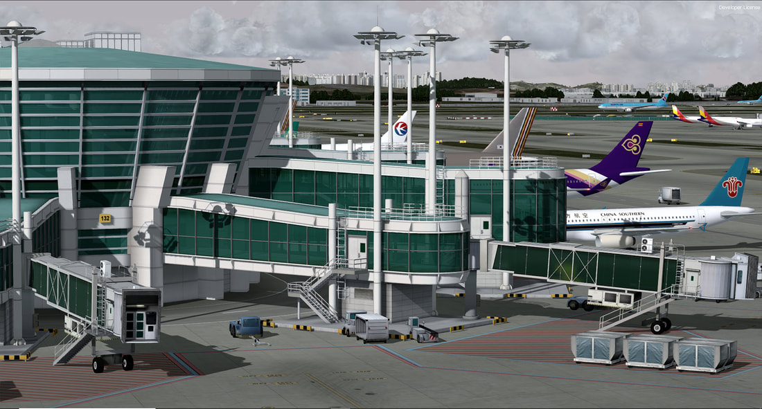 Incheon Intl - P3Dv4 - Scenes for pilots who deviate from